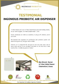 Probiotic Air Dispenser - Gym Owner Testimonial