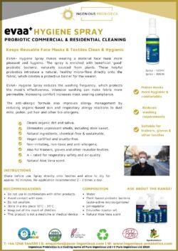 EVAA+ Hygiene Spray for Reusable Face Masks