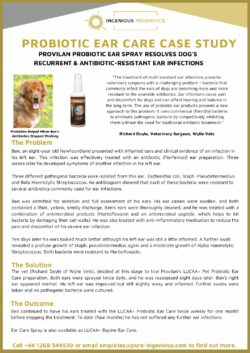 LUCAA+ Probiotic Pet Ear Care - Case Study