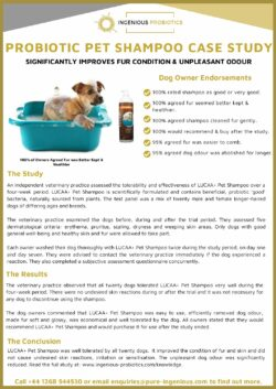 LUCAA+ Probiotic Pet Shampoo - Case Study