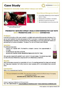 LUCAA+ Probiotic Pet Wound Care - Cat Bite Case Study
