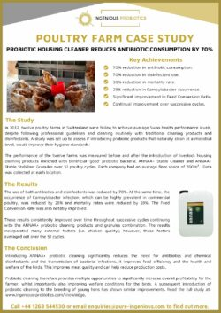 ANNAA+ Probiotic Livestock Cleaning Products - Poultry Farm Case Study