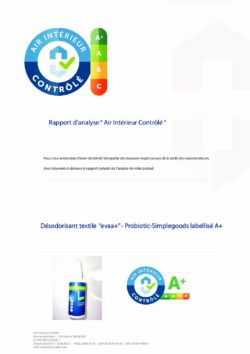 EVAA+ Hygiene Spray - A+ Indoor Air Controlled Report (French)