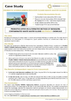 TERRAA+ Probiotic Hydrocarbon Reducer - Sidero Waste Water Plant Case Study