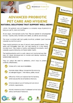 LUCAA+ Pet Probiotic Products - Flyer