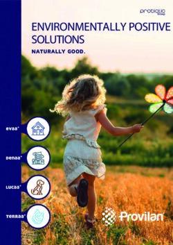 Product Catalogue - Provilan Environmentally Positive Solutions